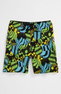 Volcom Maguro Circles Board Shorts (Little Boys) available at #Nordstrom
