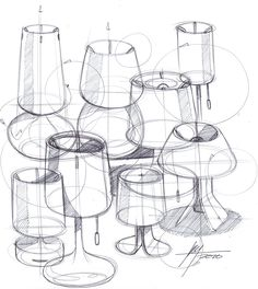 Sketch-A-Day 151: Lamps | Sketch-A-Day | Sketches by Spencer Nugent
