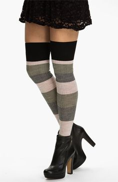I love to wear mini skirts with tights, over-the-knee socks & boots, one of my favorite winter looks!