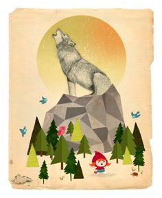 Cuentos Ilustrados Exhibition, Mexico by Silvia Portella, via Behance