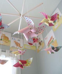 adorable crib mobile #nursery