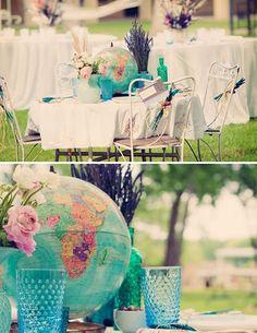 Globe Wedding Centrepiece