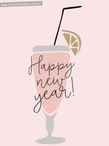 envie seu cartão de feliz ano novo freebie