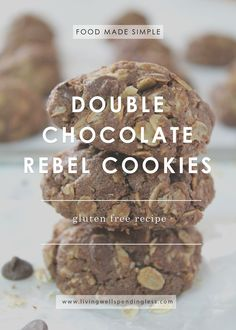 Need a simple and delicious gluten free treat? These chocolate rebel cookies are the perfect snack the whole family will go crazy for and love to bake. Chocolate Cookie Recipes, Easy Cookie Recipes, Chocolate Cookies, Dessert Recipes, Dessert Ideas, Free Recipes, Desserts, Gluten Free Treats, Gluten Free Cookies