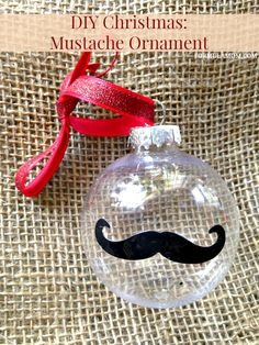 12 Days of DIY Christmas Ornaments: Mustache Ornament Idea for Holiday Decor. So easy to make!
