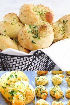 Fluffy Dinner Rolls, Homemade Dinner Rolls, Dinner Rolls Recipe, Bread Recipes, Cooking Recipes, Parmesan Recipes, Easy Recipes, Homemade Garlic Bread, Appetizer Recipes