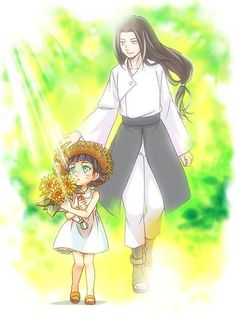 Hyūga Neji and Uzumaki Himawari