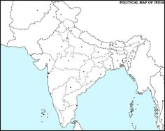 Image result for india political map blank