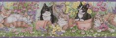 Gardening Kittens Wallpaper Border - Wallpaper & Border   Wallpaper-inc.com
