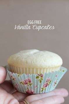 This cupcake recipe is perfectly moist and best of all, egg free! It's perfect for a first birthday or for a friend with allergies. Of course, anyone can make it!