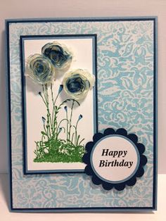 A Serene Silhouettes Birthday Stampin' Up! Rubber Stamping Birthday Card