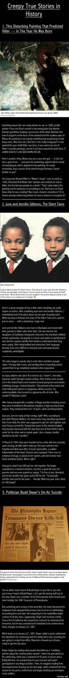 Creepy Stories in History
