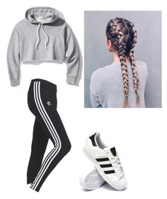 """Untitled #98"" by haileymagana on Polyvore featuring adidas and Frame"