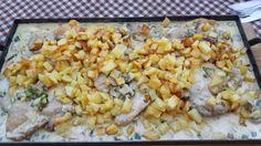 Pollo a la crema en planchetta de hierro Food Porn, Vegetables, Cooking, Tortillas, Healthy Recipes, Bar, Instagram, Ideas, Gastronomia
