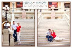Georgia State Capital Engagement Session| Red, White and Blue Wedding| Patriotic Engagement| Atlanta Engagement|  American Flag|   www.jessicaraybornphotography.com