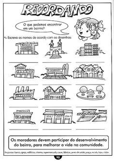 Blog Professor Zezinho : Atividade de Geografia Para o Ensino Fundamental - O Bairro