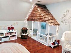 Indoor Playhouse Reveal! #playhousebuildingplans #kidsindoorplayhouse #diyindoorplayhouse #buildplayhouses