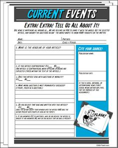 here is a worksheet for students to use any article you can  current event summary and opinion essay current event summary and opinion essay