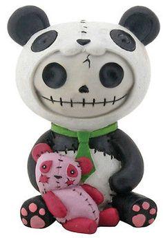 skull character wearing panda