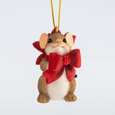 Charming Tails Pretty Little Gift Mouse Ornament 4046958 Christmas NEW 2015 Christmas Room, Santa Christmas, Christmas Crafts, Christmas Decorations, Christmas Ornaments, Christmas Clay, Monkey Doll, Biscuit, Cute Mouse
