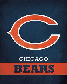NFL - Chicago Bears Logo $24.99 Parade your love for the Chicago Bears with this 16x20 Printed Canvas Logo from ScoreArt. This fun print is quintessential for the fan in your life.  #Chicago #ChicagoBears #Bears #NFL #Football #ScoreArt #Sports Nfl Chicago Bears, Chicago Cubs Logo, Football Art, Canvas Home, Home Team, Fun Prints, Logos, Sports Teams, Coasters
