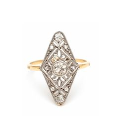 Find unique artisan engagement rings, designer wedding bands, beautiful bridal jewelry, stacking rings and curated vintage jewelry made in Los Angeles by Sofia Kaman. Antique Rings, Vintage Rings, Antique Jewelry, Vintage Jewelry, Pretty Engagement Rings, Deco Engagement Ring, Art Deco Diamond Rings, Platinum Diamond Rings, Vintage Diamond