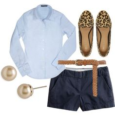 classic prep - might swap out the belt for a pop of color. God I love a preppy look!
