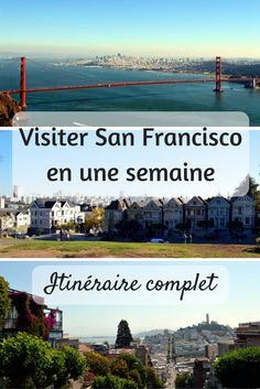 Visit San Francisco in a week: the complete itinerary- Visiter San Francisco en une semaine : l'itinéraire complet Visit San Francisco in One Week: Complete Itinerary - Travel Tags, New Travel, Travel Usa, San Francisco Travel, San Francisco California, Road Trip Usa, Visiter San Francisco, Latina, Voyage Usa