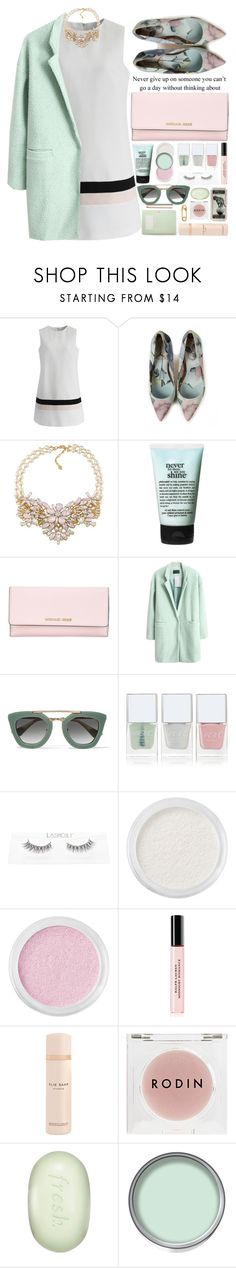 """""""Без названия #97"""" by darina-kozlova ❤ liked on Polyvore featuring Chicwish, Ted Baker, Carolee, philosophy, MICHAEL Michael Kors, Love Quotes Scarves, Prada, Nails Inc., Bare Escentuals and Ralph Lauren"""