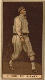 1912 Brown Backgrounds T207 #44 Claud Derrick Front