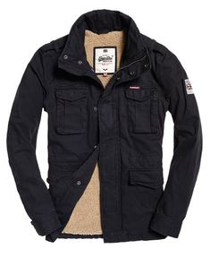 2597165f906324 Superdry Rookie Heavy Weather Field Jacket Navy Superdry Jackets