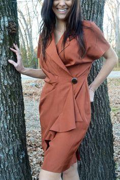 80's Joan Rena Vintage Wrap Dress on Etsy, $26.00