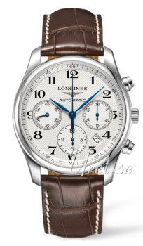 Longines Master Silver Dial Leather Large