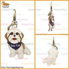 Shih Tzu Genuine Leather Bag Charm http://www.happy4legs.com/#!blank-25/x6o2p