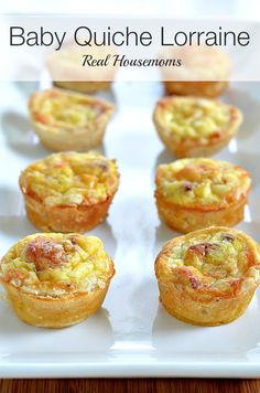 Baby Quiche Lorraine |Real Housemoms | These cute little quiche are my favorite!!!