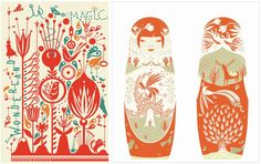 i can't get enough scandinavian folk art design