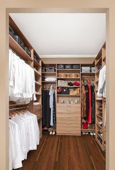 Walk-in closet system.
