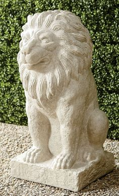 LION STATUE FROM FRONTGATE Garden Oasis, Garden Art, Modern Fountain, Cascade Water, Trough Planters, Cast Stone, Grand Entrance, World's Most Beautiful, Raised Garden Beds
