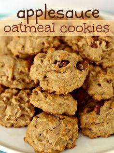 Applesauce Oatmeal Cookies #recipes #foods