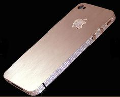 Most Expensive iPhone - over 100 carats of flawless diamonds were used. 53 flawless diamonds make up the Apple logo.