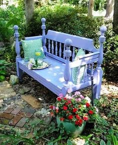 Day Bed turned Garden Bench