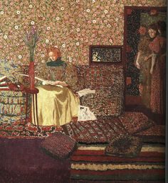 VUILLARD, Édouard French Nabi,Post-Impressionist (1868-1940)_The Reader, 1896