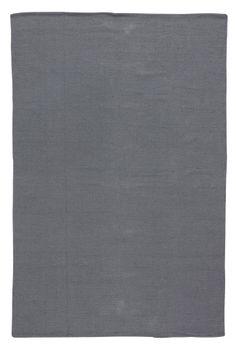 Til spisebord, Ellos Home Tæppe Uni 170x240 cm, mørk grå, vaskes 40 grader, 700kr