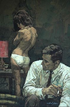 Beautiful and illustrations by Michael Johnson - Avocado Sweet Michael Johnson, Arte Pulp Fiction, Illustrations, Illustration Art, Magazine Illustration, Serpieri, Robert Mcginnis, Up Book, Fabian Perez
