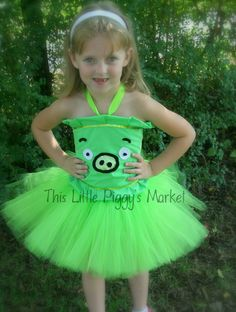 Angry Birds Little Green Pig Tutu and Corset costume