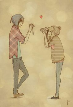 Cute hipster couple