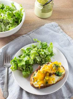 Loaded Twice-Baked Potatoes with Broccoli, Cheese, and Ground Beef