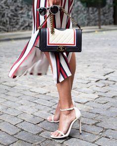Striped bag & sandals