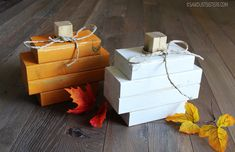 Easy farmhouse style scrap wood pumpkin made from 2x4s and chalk style paint. Step by step tutorial with pictures and links to shopping sources.