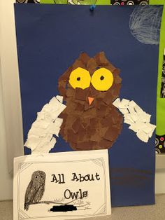 Super cute OWL art project and book.  A Tale of 2 First Grades